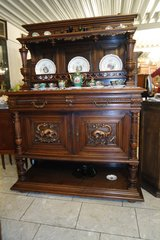 gorgeous solid walnut credenza with dragons in Ramstein, Germany