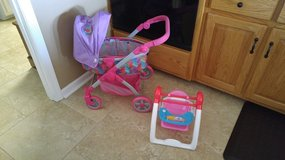 Like New Doll Stroller and 3-in-1 Swing in Columbus, Georgia