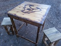 Rustic Texas game table set in Conroe, Texas