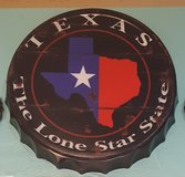 TEXAS - The Lone Star State Bottle Cap Tin Sign in Spring, Texas
