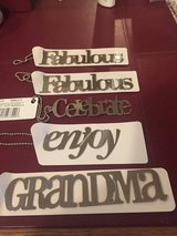 "5 Hallmark Metal Package Tags - ""Fabulous"", ""Grandma"", ""Enjoy"" & ""Celebrate"" - New! in Batavia, Illinois"