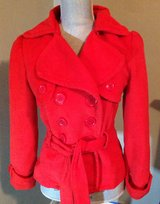 FOREVER 21 RED PEACOAT JACKET SZ S in Kingwood, Texas