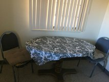 Small oval wood table in Fort Irwin, California