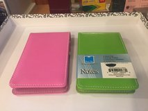"2  New ""Leatherette"" Note Pads with Pen - 1 Green & 1 Pink in Batavia, Illinois"