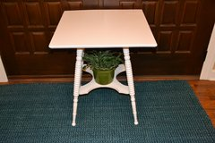 white barley twist side table/ bedside table/ farm style/ white in Naperville, Illinois