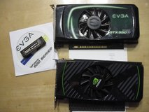 TWO NVIDIA EVGA GEFORCE GTX 550 TI 1GB VIDEO CARDS in Camp Lejeune, North Carolina