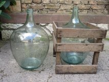 Large (25L) Demi John (wine storage bottles) with Crates from Vineyard in Ramstein, Germany