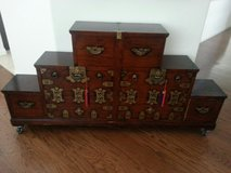 Antique Rosewood Oriental Drawer Set in bookoo, US
