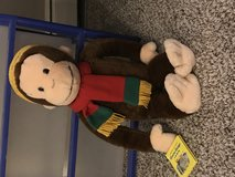 Curious George big stuffed animal with book in Bartlett, Illinois