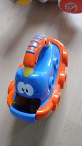 Toy boat with little car inside in Ramstein, Germany