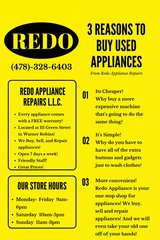 TAX TIME APPLIANCE SALE!!! WASHERS! DRYERS! FRIDGES! STOVES! WITH WARRANTIES! CLEAN! in Perry, Georgia