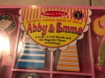 Melissa & Doug ( Abby and Emma wooden magnetic dress up doll in Elgin, Illinois