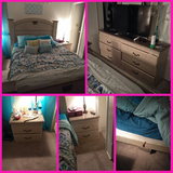 6 piece bedroom set....minor crack in side would that needs to be repaired in Edwards AFB, California