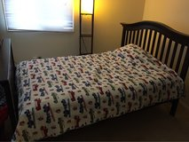full size bed can convert to crib in Bartlett, Illinois