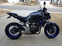 Upgraded 2015 FZ-07 with Riding Gear in Fort Gordon, Georgia