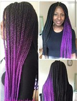 Colored Box Braids---Price Includes Hair in bookoo, US