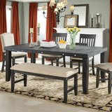 NEW! UPSCALE QUALITY THICK WOOD DINING SET WITH BENCH! in Camp Pendleton, California