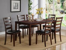 "NEW! ""URBANO"" COLLECTION 7PC DARK SOLID WOOD DINING SET!! in Vista, California"