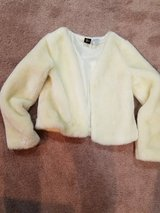 Faux fur girls ivory jacket in Chicago, Illinois