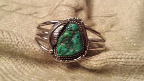 VINTAGE SS TURQUOISE NUGGET CUFF BRACELET in Chicago, Illinois