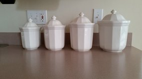 VINTAGE PFALTZGRAFF HERITAGE WHITE CANISTER SET (LIKE NEW!) in Algonquin, Illinois