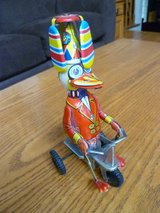 Vintage Collectible Blic Wind-up Toy Duck on Tricycle in Aurora, Illinois