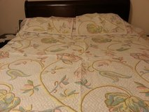 bed spread with two pillow cases. in Orland Park, Illinois