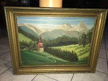 Vintage Oil Painting in Ramstein, Germany