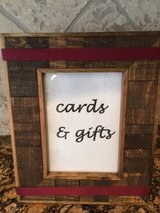 Cards and Gifts signage-wedding in Kingwood, Texas