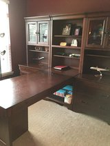 Executive T-Style Desk with Matching Slide Out File Cabinet in Joliet, Illinois