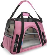OxGord Airline Approved Pet Carriers w/ Fleece Bed For Dog & Cat - Pink - Medium in Bolingbrook, Illinois