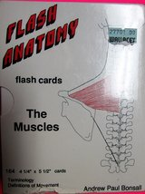 NEW Flash Anatomy MUSCLES Flash Cards Terminology Movement Definitions 2nd Ed in Joliet, Illinois