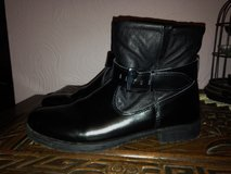 Ladies leather biker style ankle boots. Size 5/6. John Lewis. in Lakenheath, UK
