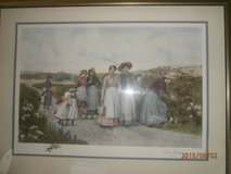 Large signed collectable print from early 1900's in bookoo, US