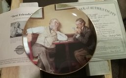 """NORMAN ROCKWELL'S """"BEST FRIENDS"""" CHINA PLATE IN BOX in Camp Lejeune, North Carolina"""