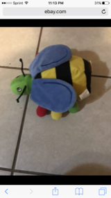 Bee plush toy with attatched book in Elgin, Illinois
