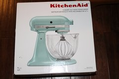 KITCHENAID ksm155gbaz 5 QUART BLUE AZURE NIB  STAND MIXER ARTISAN DESIGNER in DeKalb, Illinois
