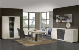 Rodin (NEW MODEL) Dining Set - China +Table + 4 Chairs + delivery in Stuttgart, GE