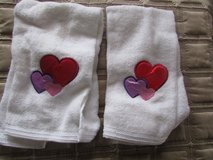 2 Towels with hearts on them in Chicago, Illinois