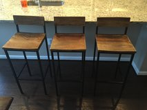 3 rustic barstools in Quantico, Virginia