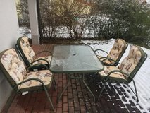 Patio table and 4 chairs in Ramstein, Germany