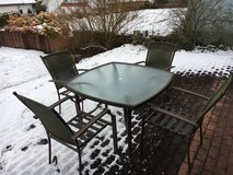 patio table (brown) and 4 chairs in Ramstein, Germany
