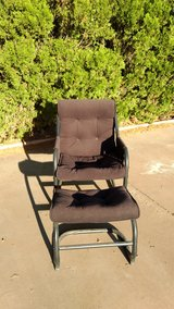 Black chair and ottoman in Alamogordo, New Mexico