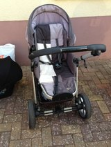 stroller with basket grey in Ramstein, Germany