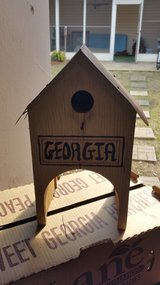 UGA Bird House/Mailbox Decoration in Macon, Georgia