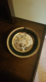 "24 KT Gold 8"" Goldfinch Shigemi Violet Plate in Macon, Georgia"