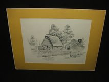Early Pilgrim Homes Sketch Repro by G. Richardson in Bolingbrook, Illinois