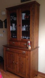 Solid Oak Cupboard in Glendale Heights, Illinois