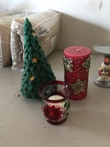 3 decorative Christmas candles in Kingwood, Texas