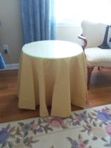side table w/tablecloth & glass top in Fort Knox, Kentucky